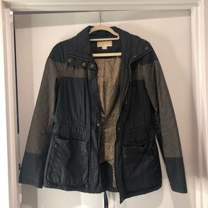 Michael Kors Rain Jacket in Navy/Army Green